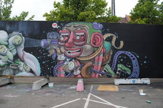 Фантастичните графити на еден италијански артист