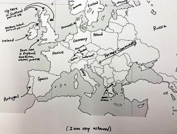 Европската географија според Американците