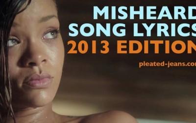 Кои се најчестите погрешни пеени музички стихови во 2013?