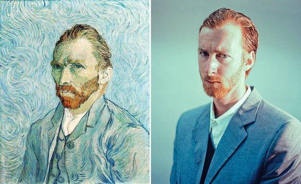 """Автопортрет 1889"", Винсент ван Гог - преработено од Сет Џонсон"