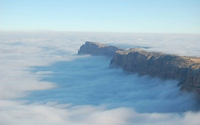 Река од магла го преплави Големиот Кањон