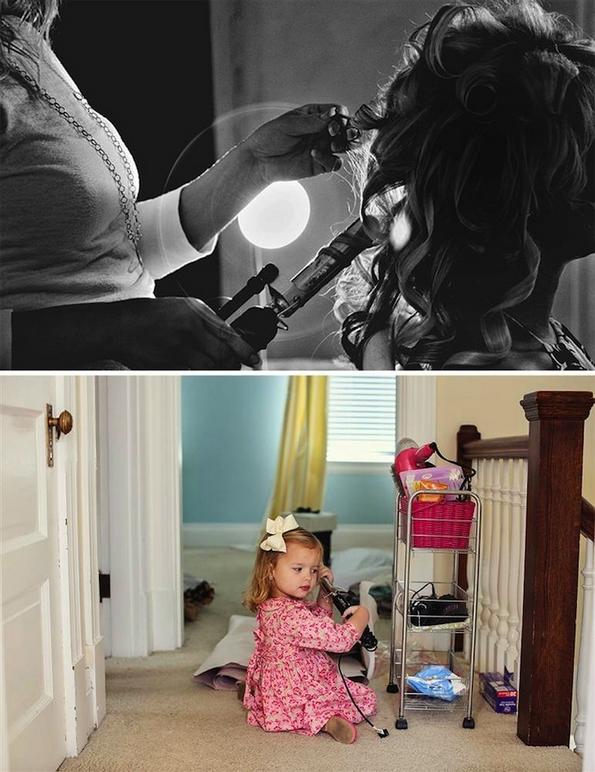 Татко и ќеркичка ги рекреираат свадбените фотографии со починатата сопруга
