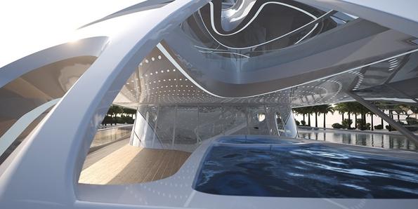 Футуристичка луксузна јахта, која нуди рајска пловидба