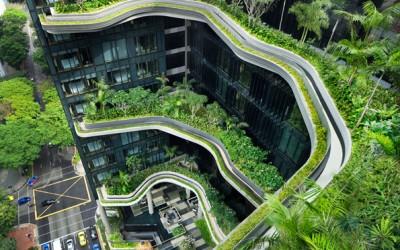 Хотел во Сингапур со неверојатна небесна градина