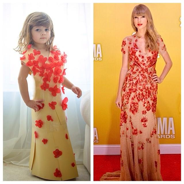 Мајка и ќерка изработуваат неодоливи копии на познати фустани