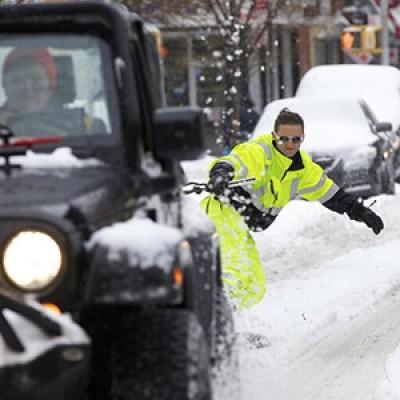 Што се случува по снежна бура во Њујорк?