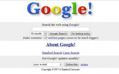 Изгледот на популарните сајтови: некогаш и сега