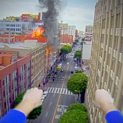 """Супермен со """"GoPro"""" камера"""