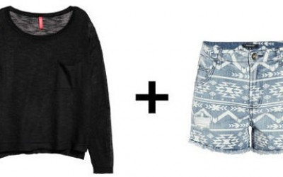 Џемпер и шорцеви со висок струк - секогаш добитна комбинација