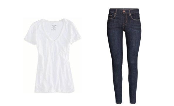 10 комбинации со тесни фармерки и бела маичка за секоја пригода