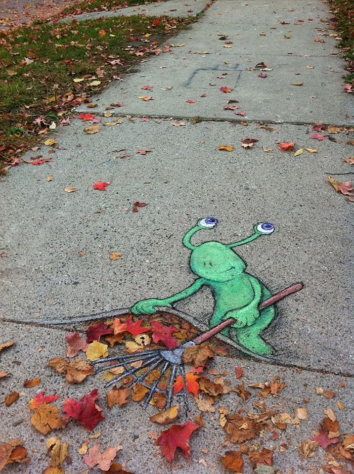 Улична уметност која ги спојува урбаното и природата