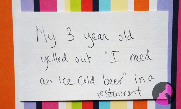 """Мојата тригодишна ќерка врескаше: """"Сакам ладно пиво!"""" во ресторан"""