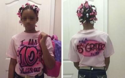 Татко ја натерал својата 10-годишна ќерка да носи облека која ќе ја казни поради тоа што флертувала онлајн