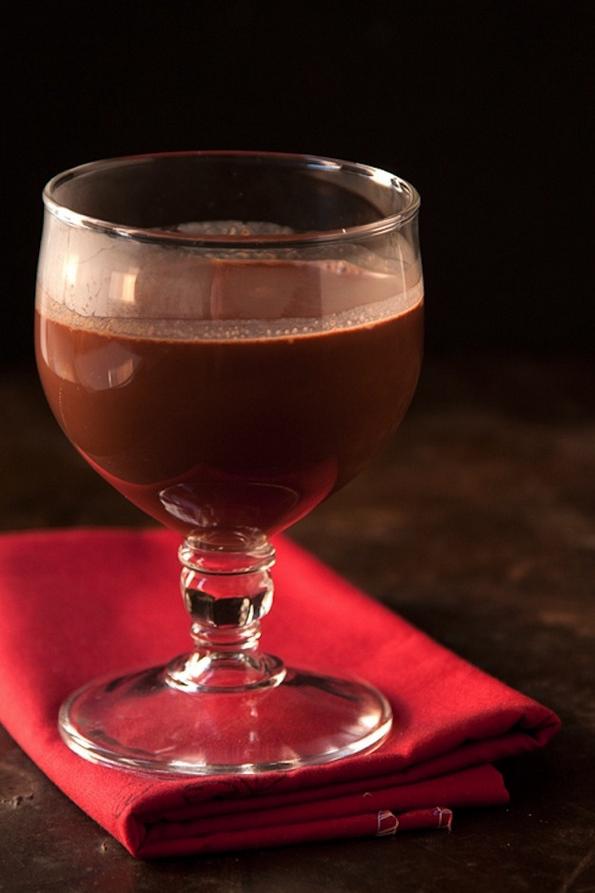 Топол напиток од чоколадо и црвено вино