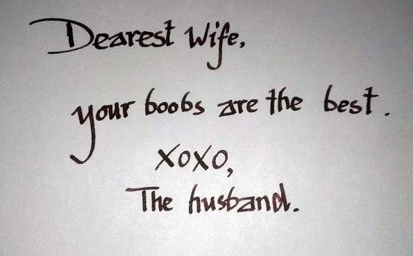 Најдрага сопруго, твоите гради се најдобри. Хо хо, сопругот