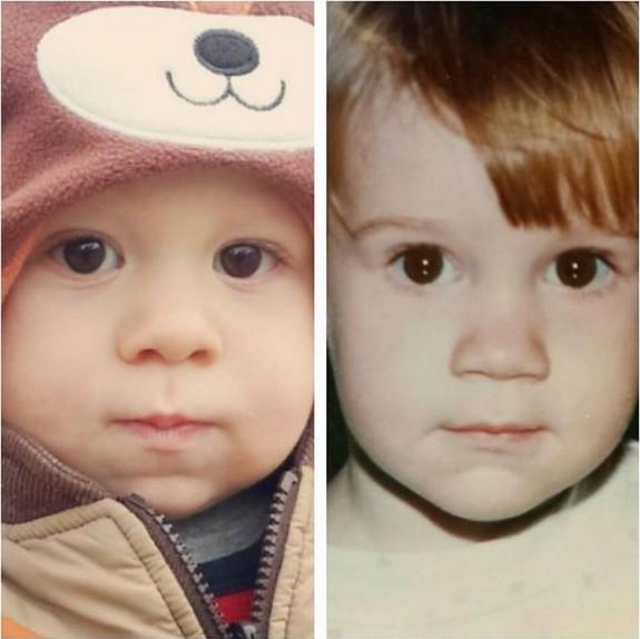 Родители кои изгледале идентично како нивните деца кога биле на нивни години
