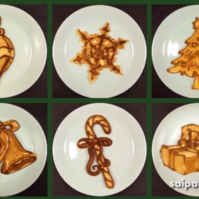 Празнична уметност со палачинки