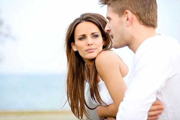 Attractive Woman Listening To Her Boyfriend