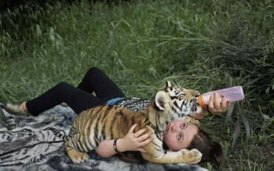 Фото-приказна за големото пријателство помеѓу мало девојче и дивите егзотични животни