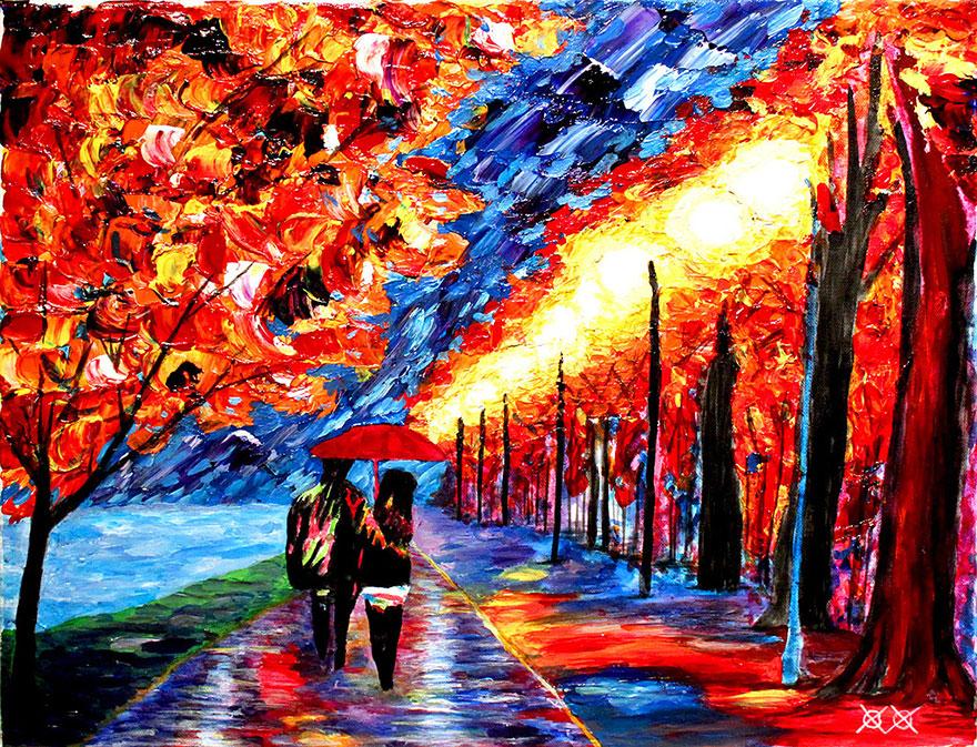(1) Слеп сликар создава неверојатни и колоритни уметнички дела