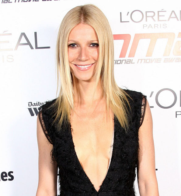 Gwyneth Paltrow poses backstage at the National Movie Awards 2011