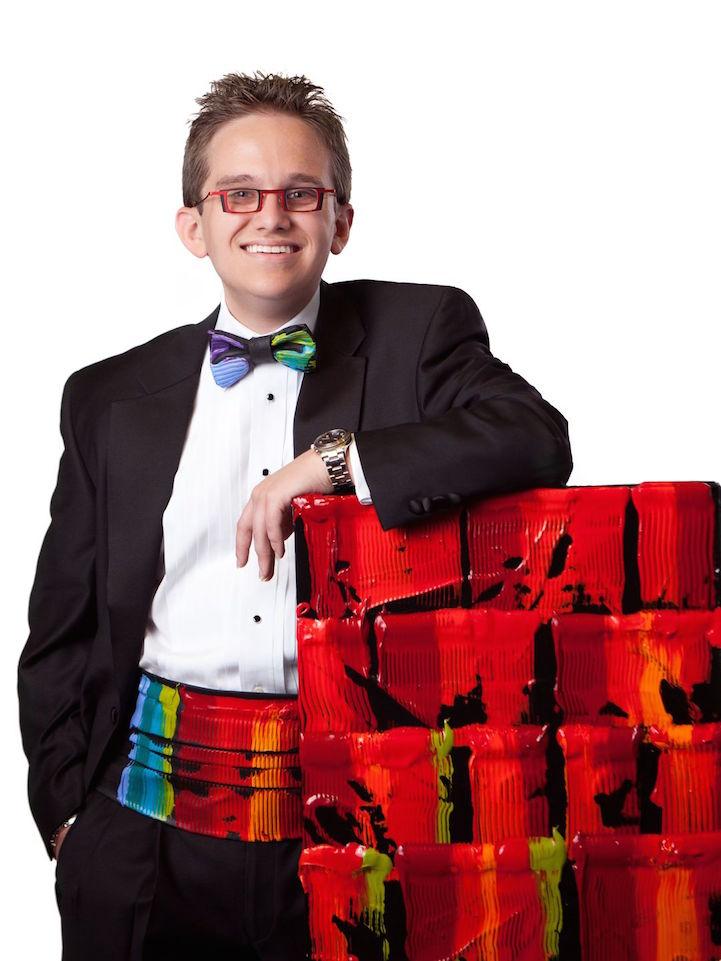 (14) Сликар со оштетување на видот собрал 1 милион долари за добротворни цели со неговите неверојатни уметнички дела