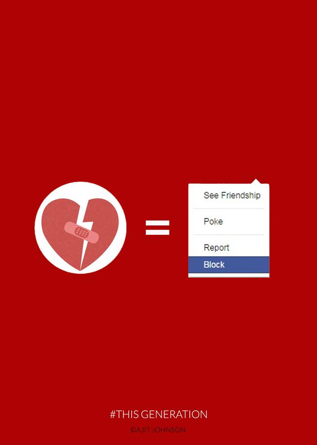 Скршено срце води кон блокирање на Фејсбук