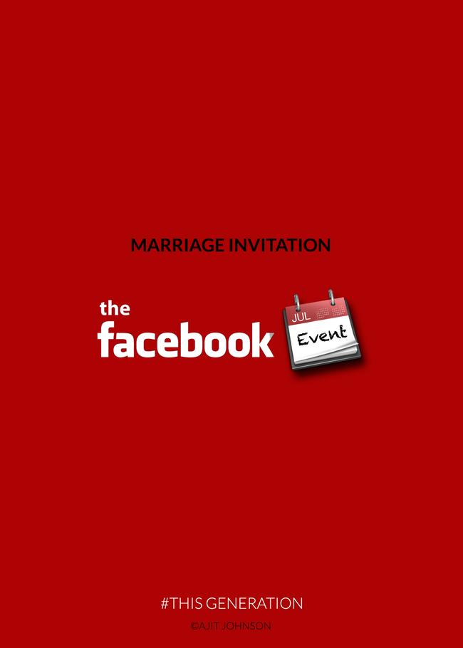 Покана за брак преку Фејсбук