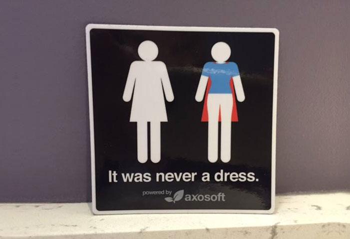 (1) Тоа не е фустан: Кампања која ќе го промени начинот на кој ги гледате знаците за женскиот тоалет