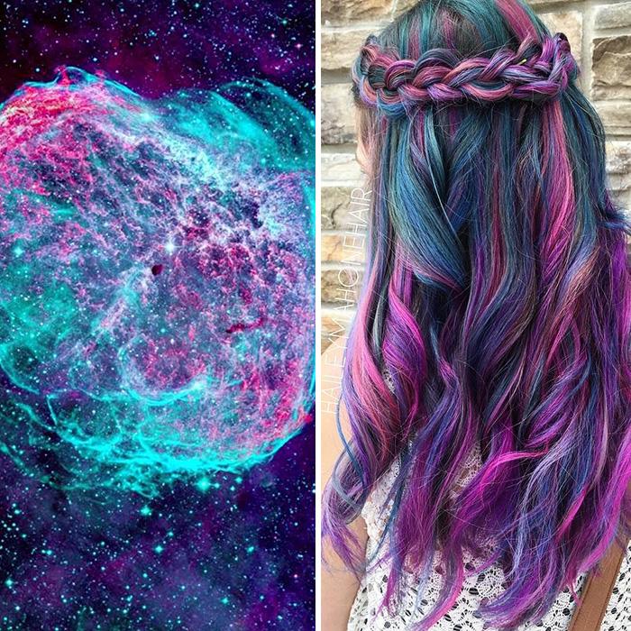 (1) Неверојатен нов тренд: Коса со боите на галаксиите