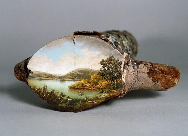 (1) Прекрасни цртежи на стебла од дрвја ја отсликуваат нивната природна средина