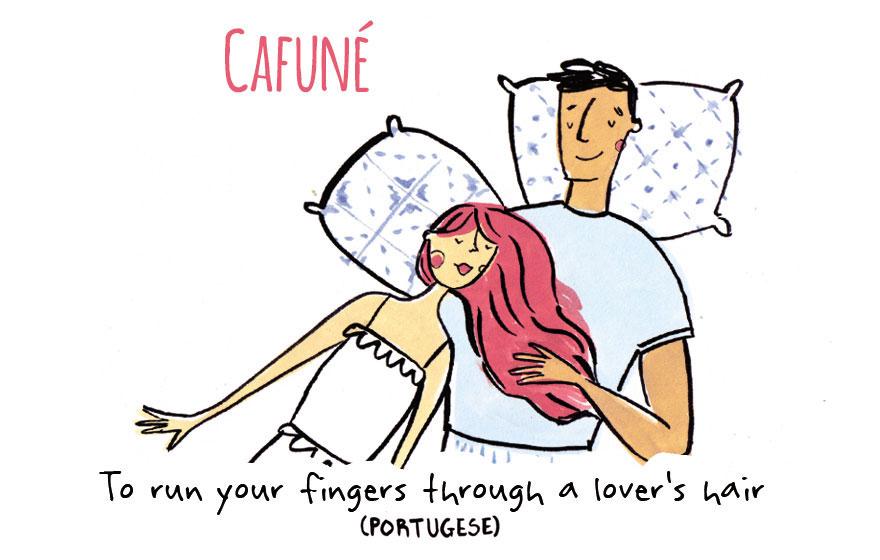 Да поминете со вашите прсти низ косата на вашата љубов (португалски)