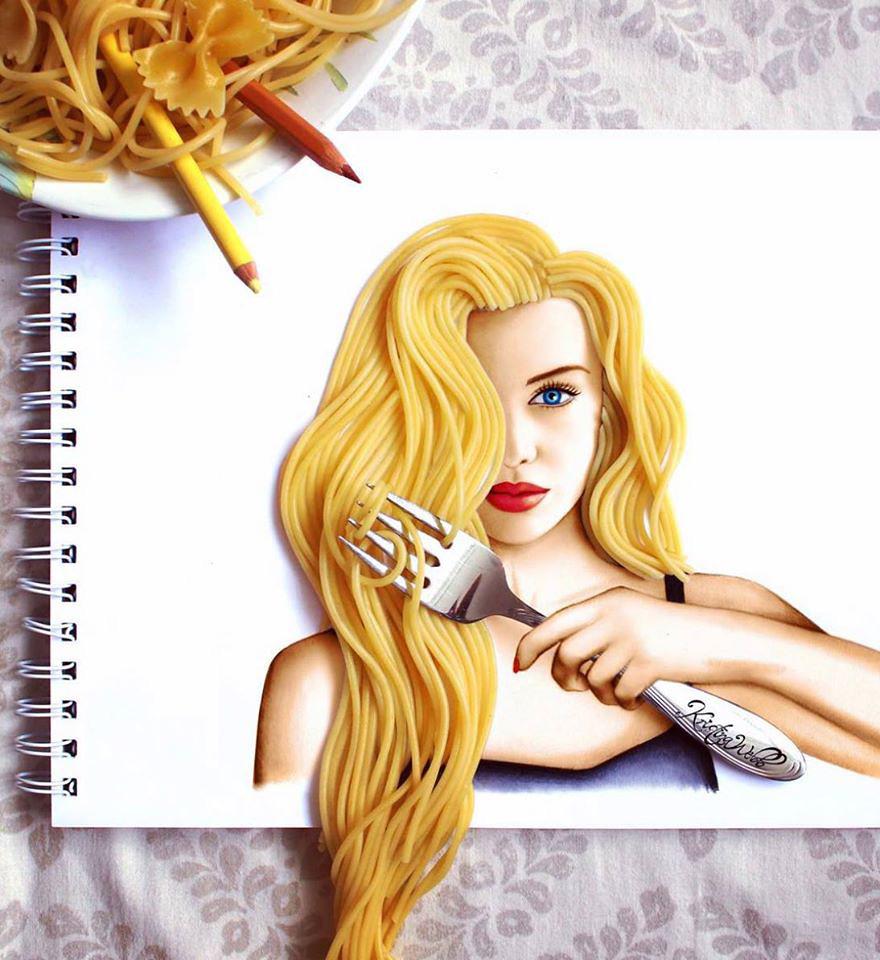 (1) Талентирана млада артистка користи секојдневни објекти за да ги надополни своите илустрации