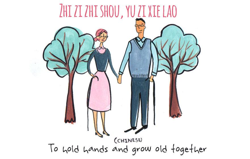 Да се држите за раце и да остарите заедно (кинески)