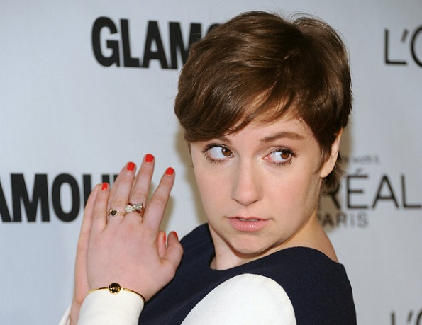 """The Voice of a Generation"" award winner Lena Dunham attends Glamour Magazine's 22nd annual ""Women of the Year Awards"" at Carnegie Hall on Monday Nov. 12, 2012 in New York. (Photo by Evan Agostini/Invision/AP)"