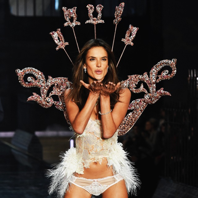 walks the runway during the 2015 Victoria's Secret Fashion Show at Lexington Avenue Armory on November 10, 2015 in New York City.