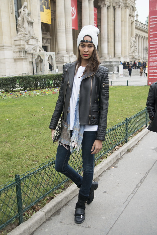 PARIS, FRANCE - JANUARY 27: Model Joan Smalls on  day 3 of Paris Haute Couture Fashion Week Spring/Summer 2015, on January 27, 2015 in Paris, France. (Photo by Kirstin Sinclair/Getty Images)