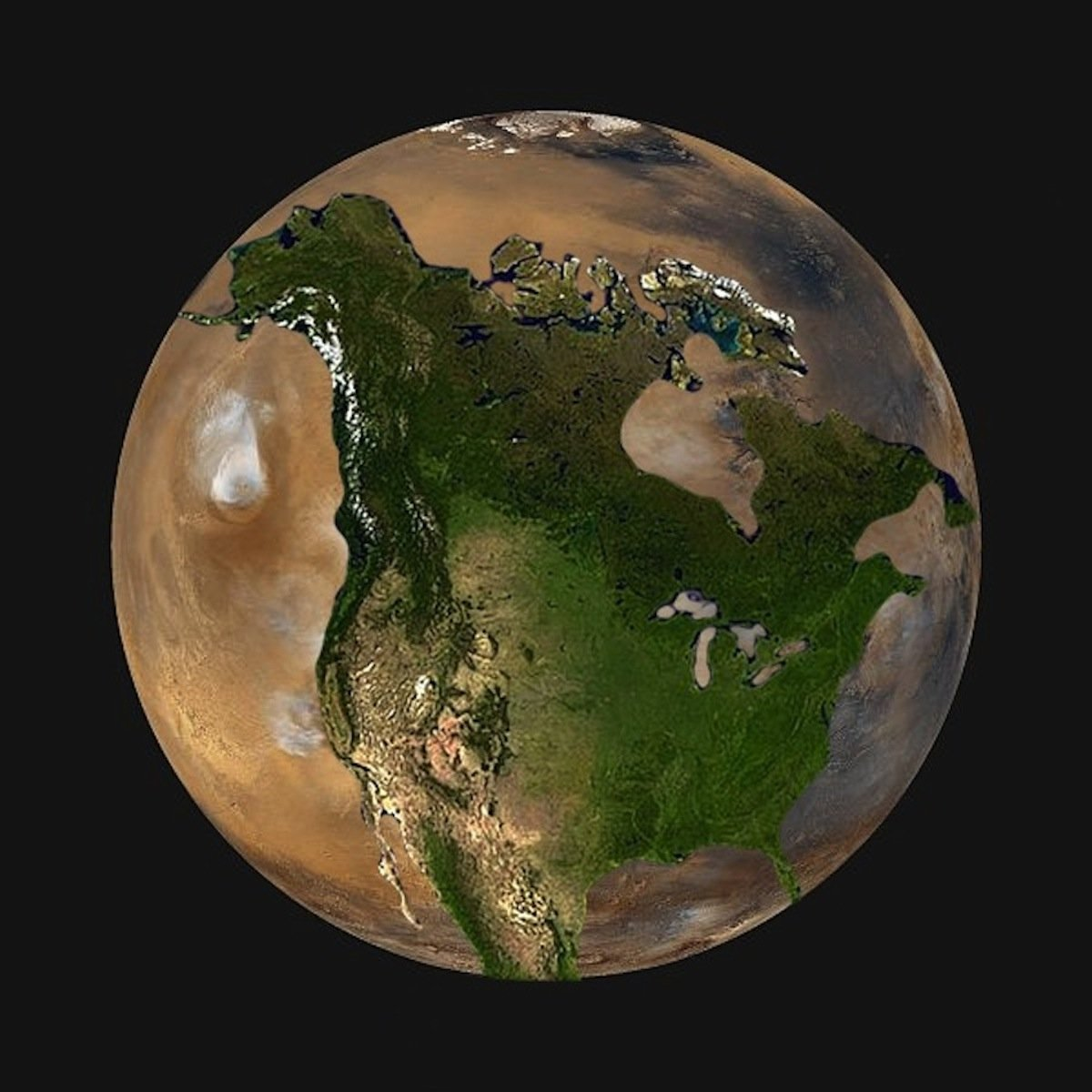 mars compared to earth size - 800×800