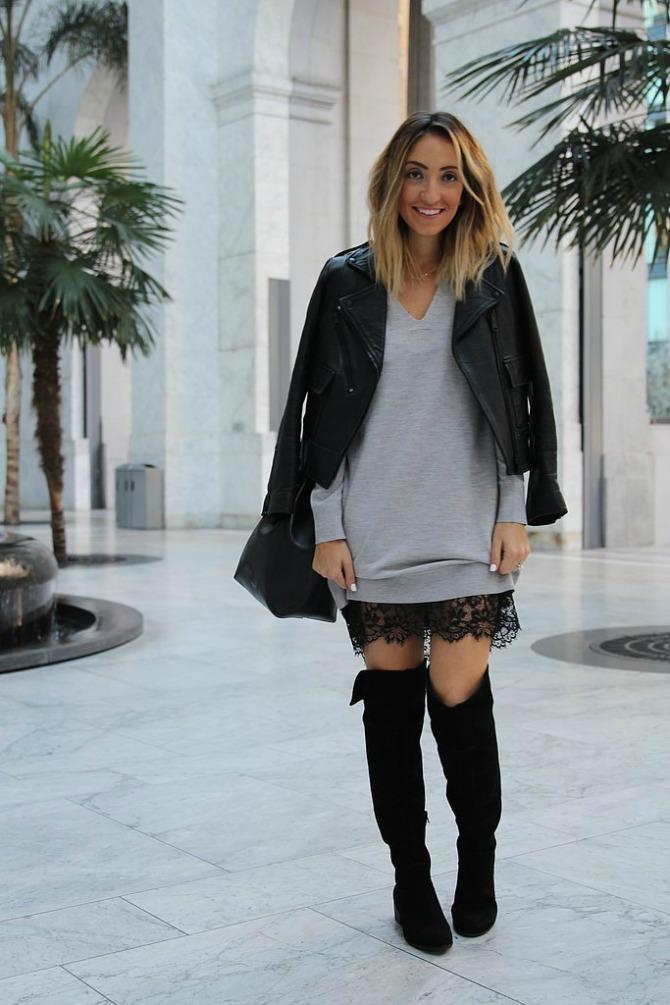 5 модни комбинации со чизми над колена