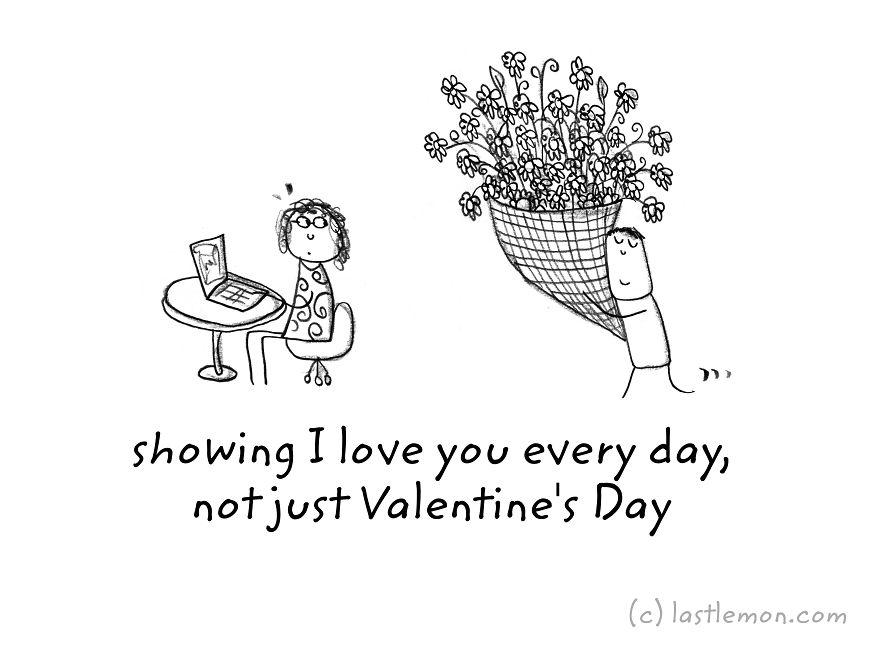 Ти покажувам дека те сакам секој ден, не само на Денот на вљубените
