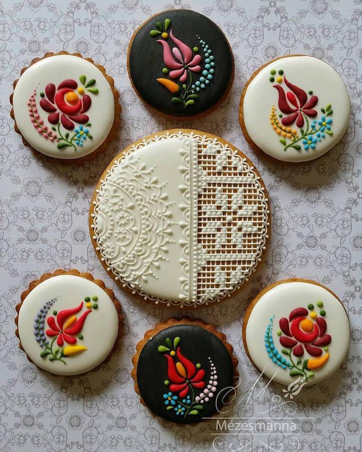 Оваа пекарка ги трансформира обичните колачиња во уметнички дела инспирирани од везови
