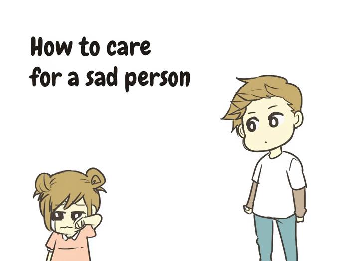 Како успешно да се грижите за тажна личност во само 10 чекори?