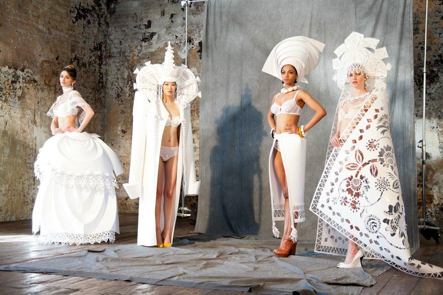 Традиционални венчаници за различни националности направени од хартија