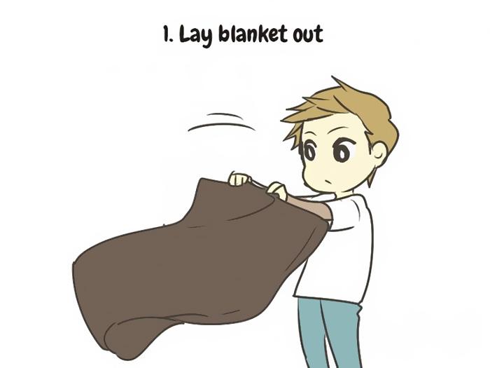 1. Постелете ќебе