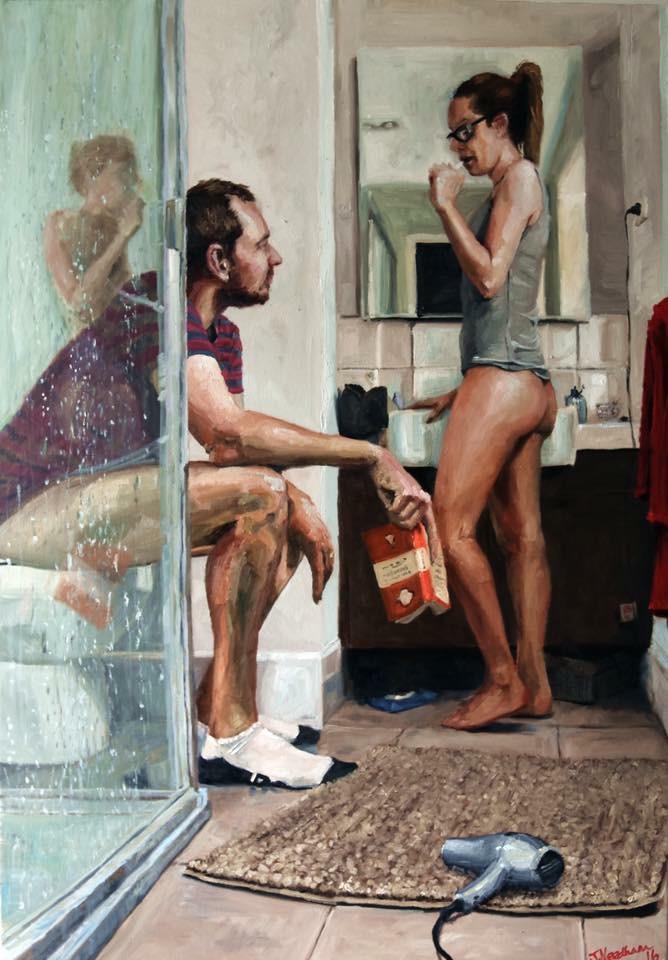 Креативен уметник насликал портрет од својата жена, покажувајќи што значи вистинската љубов