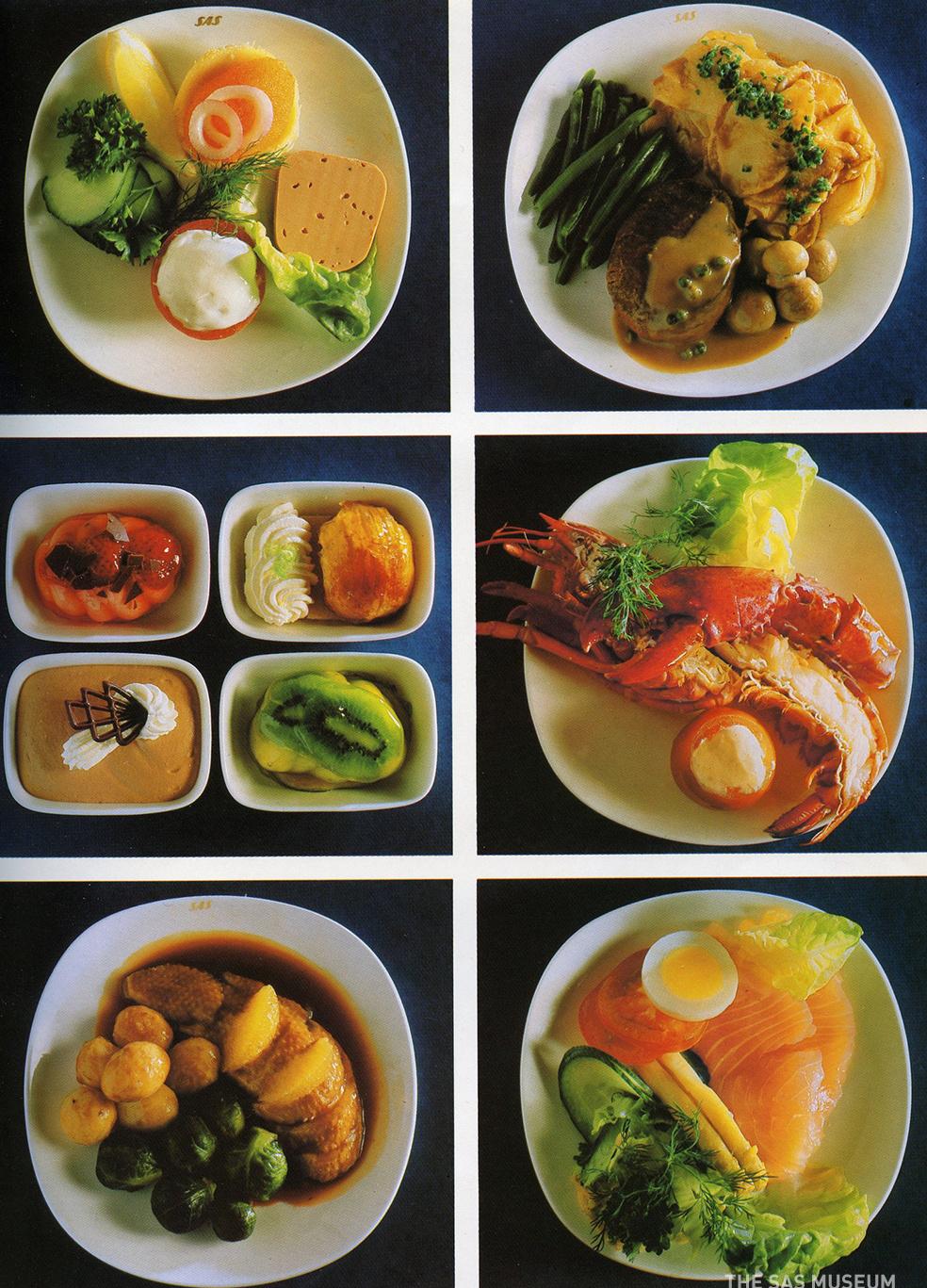 Погледнете како изгледале оброците во авионите помеѓу 50-тите и 80-тите години