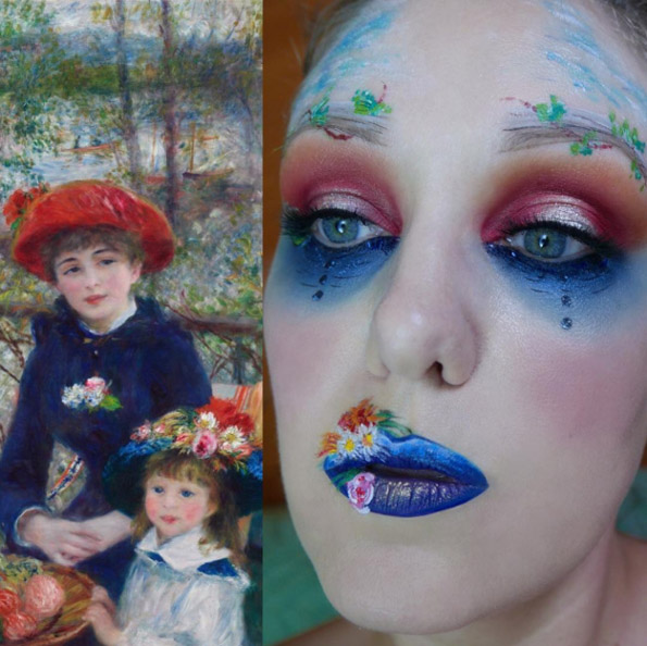 Мејкап артистка се трансформира во познати уметнички дела