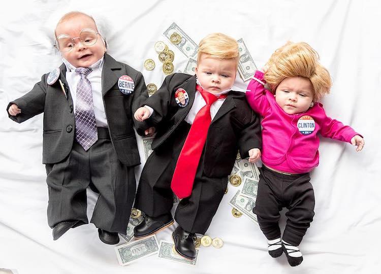 (1) Нови родители ги облекуваат своите бебиња во неодоливи костими