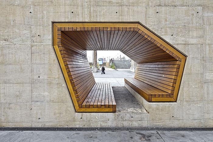 Интересна клупа во Луксембург