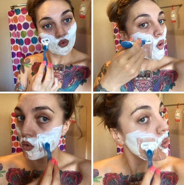 (0) Оваа девојка секое утро се бричи и отворено зборува зошто го прави тоа